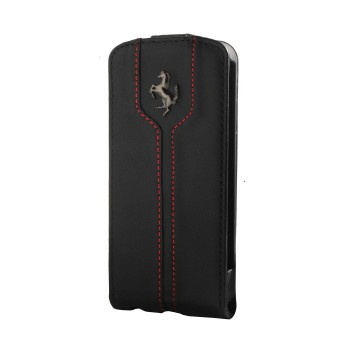 Чехол Ferrari Montecarlo Leather Flip Case BLACK для iPhone 4/4S