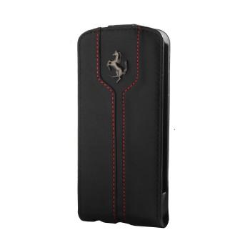 Чехол Ferrari Montecarlo Leather Flip Case BLACK для iPhone 4/4S