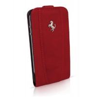 Чехол Ferrari Leather Flip Case RED для iPhone 4/4S