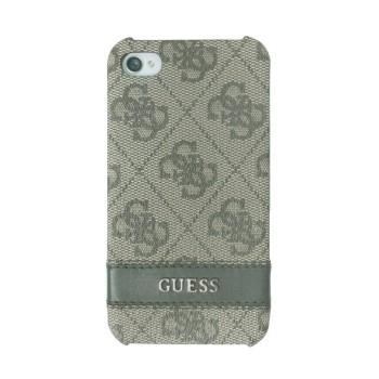 Чехол пластиковый GUESS Back Cover BROWN для iPhone 4/4S