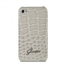 GUESS Croco Back Cover BEIGE для iPhone 4/4S