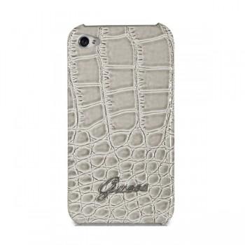 Чехол GUESS Croco Back Cover BEIGE для iPhone 4/4S