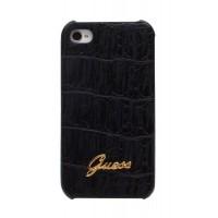 Чехол GUESS Croco Mat Back Cover BLACK для iPhone 4/4S