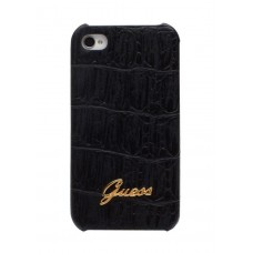 GUESS Croco Mat Back Cover BLACK для iPhone 4/4S