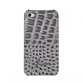 Чехол GUESS Croco Back Cover GREY для iPhone 4/4S