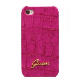 Чехол GUESS Croco Mat Back Cover PINK для iPhone 4/4S