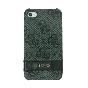 Чехол пластиковый GUESS Back Cover GREY для iPhone 4/4S