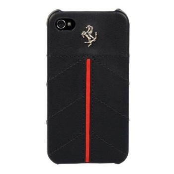 Чехол Ferrari California Leather Back Cover BLACK для iPhone 4/4S