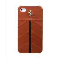 Чехол Ferrari California Leather Back Cover CAMEL коричневый для iPhone 4/4S