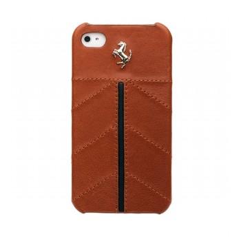 Чехол Ferrari California Leather Back Cover CAMEL коричневый для iPhone 4/4S