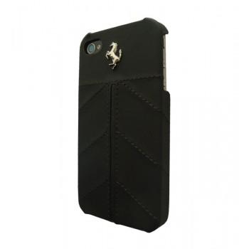 Чехол Ferrari California Leather Back Cover FULL BLACK для iPhone 4/4S