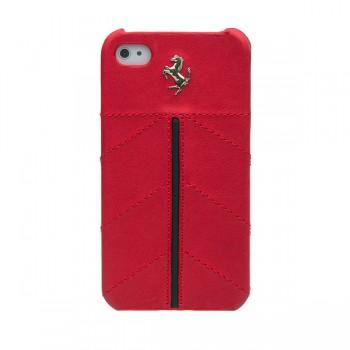 Чехол Ferrari California Leather Back Cover RED для iPhone 4/4S