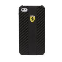 Чехол Ferrari Leather Back Cover CHALLENGE BLACK для iPhone 4/4S