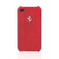 Чехол Ferrari Modena Leather Back Cover RED для iPhone 4/4S