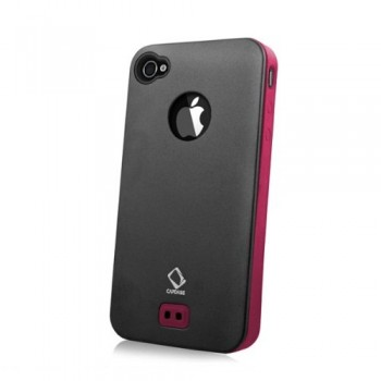 Чехол CAPDASE Alumor Metal Case BLACK/RED для iPhone 4