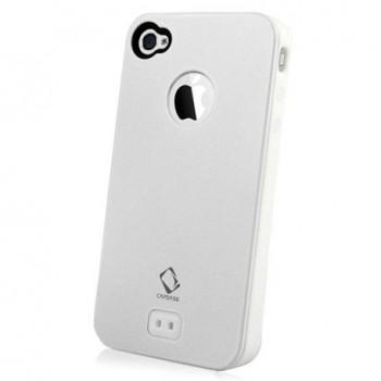 Чехол CAPDASE Alumor Metal Case White для iPhone 4