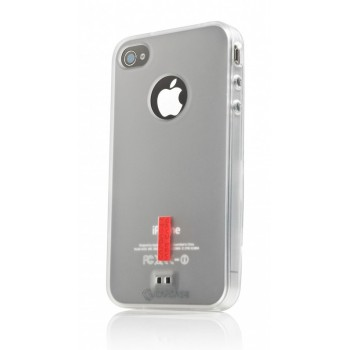 Чехол пластиковый Capdase Soft Jacket 2 Xpose White для iPhone 4/4S