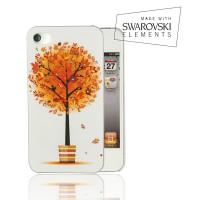 Чехол пластиковый FaceCase SWAROVSKI Autumn Tree для iPhone 4/4S