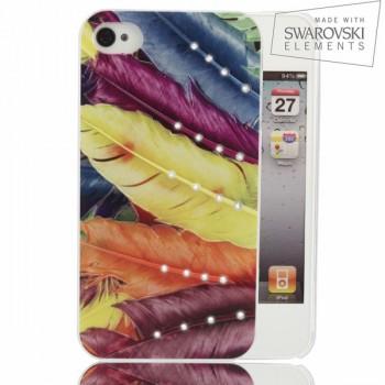 Чехол пластиковый FaceCase SWAROVSKI Colour Joy для iPhone 4/4S