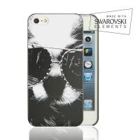 Чехол пластиковый FaceCase SWAROVSKI Disco Dog для iPhone 4/4S