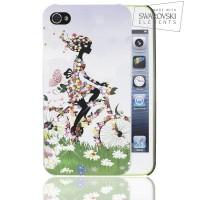 Чехол пластиковый FaceCase SWAROVSKI Fairy on Bike для iPhone 4/4S
