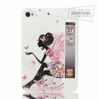 Чехол пластиковый FaceCase SWAROVSKI Fairy для iPhone 4/4S