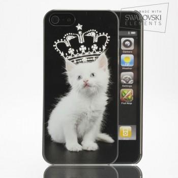 Чехол пластиковый FaceCase SWAROVSKI Fluffy Prince для iPhone 4/4S