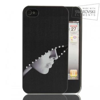 Чехол пластиковый FaceCase SWAROVSKI Mysterious Lady для iPhone 4/4S