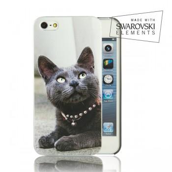 Чехол пластиковый FaceCase SWAROVSKI Royal Cat для iPhone 4/4S
