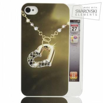 Чехол пластиковый FaceCase SWAROVSKI Soul Heart для iPhone 4/4S
