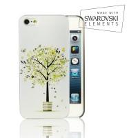 Чехол пластиковый FaceCase SWAROVSKI Spring Tree для iPhone 4/4S