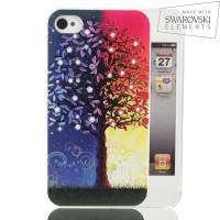 Чехол пластиковый FaceCase SWAROVSKI Wish Tree для iPhone 4/4S