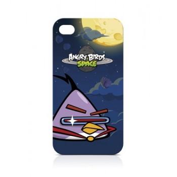 Чехол пластиковый Gear4 Angry Birds Protective Case Space Bird LAZER для iPhone 4/4S