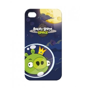Чехол пластиковый Gear4 Angry Birds Protective Case Space King Pig GREEN для iPhone 4/4S
