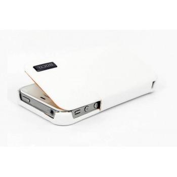 Чехол HOCO Baron Leather Case White для iPhone 4/4S