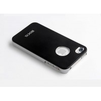 Чехол пластиковый HOCO Ultra Slim Colorized Back Cover Case BLACK для iPhone 4/4S