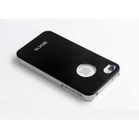 Чехол пластиковый HOCO Ultra Slim Colorized Back Cover Case BLACK для iPhone 4/4S