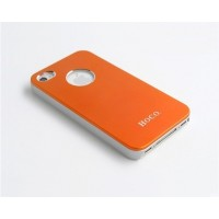 Чехол пластиковый HOCO Ultra Slim Colorized Back Cover Case ORANGE для iPhone 4/4S
