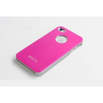 Чехол пластиковый HOCO Ultra Slim Colorized Back Cover Case PINK для iPhone 4/4S