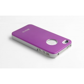 Чехол пластиковый HOCO Ultra Slim Colorized Back Cover Case PURPLE для iPhone 4/4S