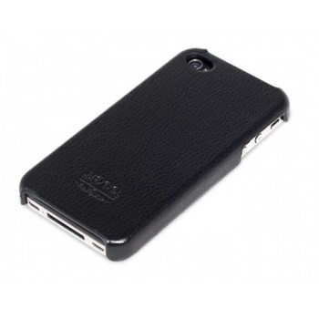 Чехол HOCO Duke Real Leather Cover Case BLACK для iPhone 4/4S