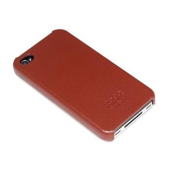 Чехол HOCO Duke Real Leather Cover Case BROWN для iPhone 4/4S