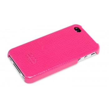 Чехол HOCO Duke Real Leather Cover Case PINK для iPhone 4/4S