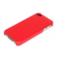 Чехол HOCO Duke Real Leather Cover Case Red для iPhone 4/4S