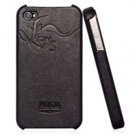 Чехол HOCO Earl Fashion Back Cover Leather Case BLACK для iPhone 4/4S