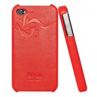 Чехол HOCO Earl Fashion Back Cover Leather Case RED для iPhone 4/4S
