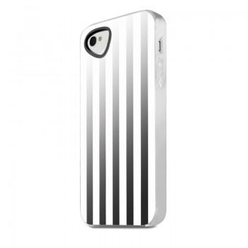 Чехол силиконовый ITSKINS Killer ChicWhite Stripes для iPhone 4/4S