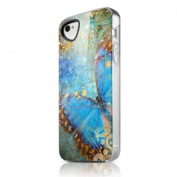 Чехол пластиковый ITSKINS Phantom Blue Butterfly для iPhone 4/4S