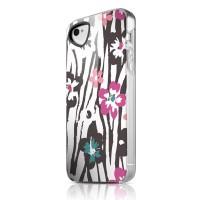 Чехол пластиковый ITSKINS Phantom Zebra Flower для iPhone 4/4S