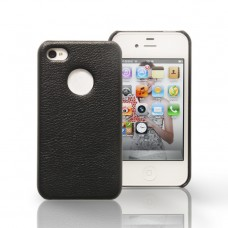 Чехол Jison Case Slim Fit Leather Cover Case BLACK для iPhone 4/4S
